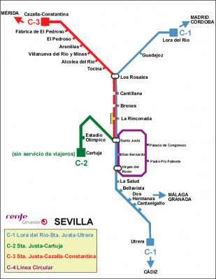 Plano Cercanias Sevilla
