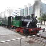 tren de vapor en moviento