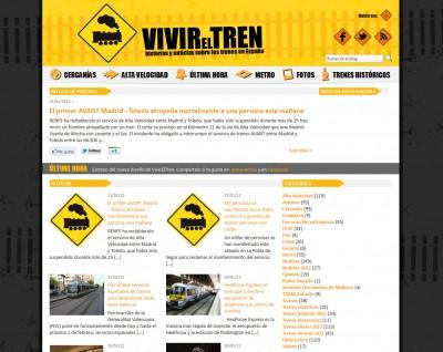 Nuevo diseño de VivirElTren
