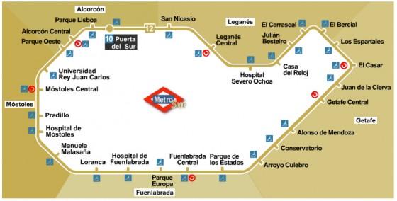 Metro Madrid cerrará durante mes y medio 2 tramos del MetroSur por obras