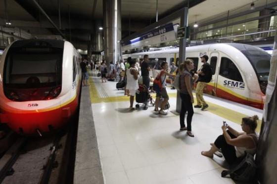 Mallorca se queda sin tren ni metro durante más de 3h por una avería en la red eléctrica