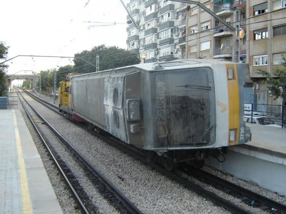 vagon accidentado metro Valencia 2006