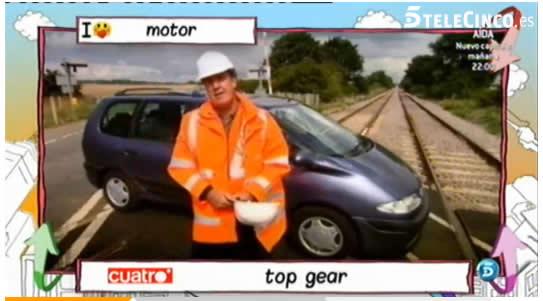 Prueba coche Top Gear tren