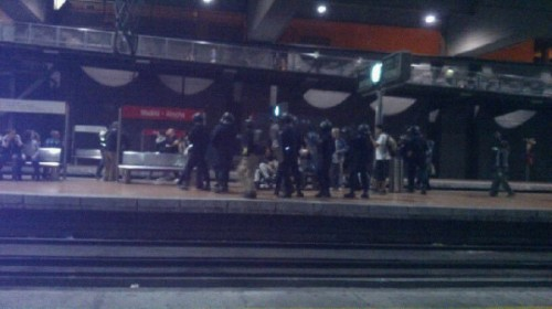 antidisturbios Atocha