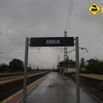 Cartel estación Araia