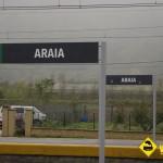 Carteles estación Araia