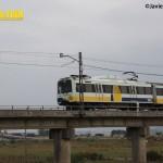 Tren FEVE puente