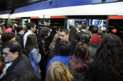 Paros Metro Madrid navidad