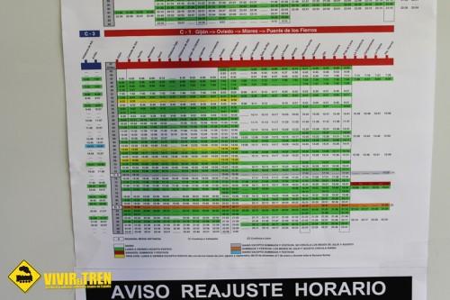 horarios tren oviedo: