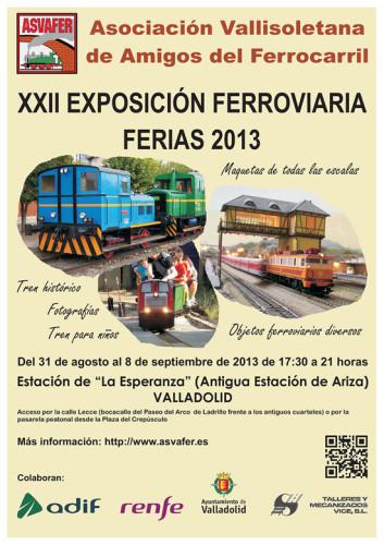 Exposición Ferroviaria Ferias 2013 en Valladolid