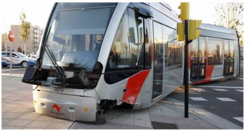Accidente tranvia Zaragoza