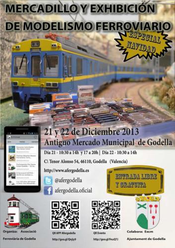 Mercadillo y exhibición del modelismo ferroviario en la Asociación Ferroviaria de Godella