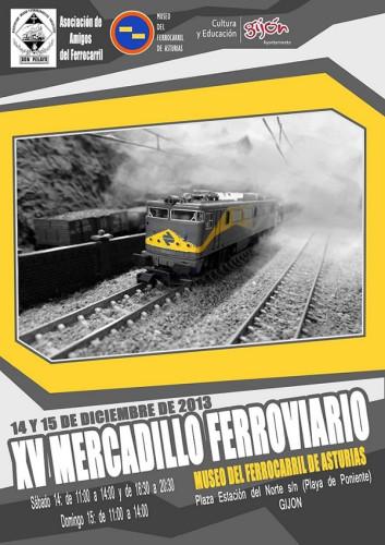 Los días 14 y 15 de diciembre Mercadillo Ferroviario en el Museo del Ferrocarril de Asturias