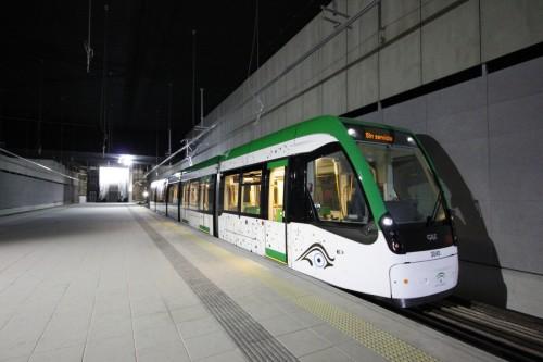 El 21 de diciembre el metro de Málaga circulará para todos aquellos que quieran probarlo