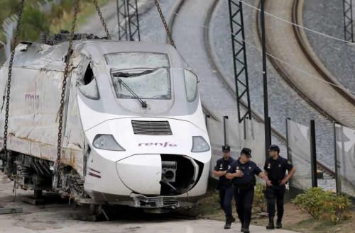 Renfe custodiará los restos del ALVIA accidentado ante la imposibilidad de la Policía