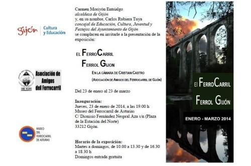 Exposición sobre el ferrocarril Ferrol – Gijón en el Museo del Ferrocarril de Asturias