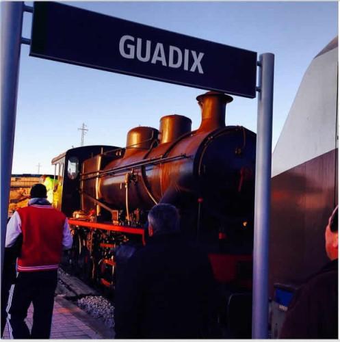 """Llega a Guadix la locomotora de vapor 140-2054 """"Guadix"""""""
