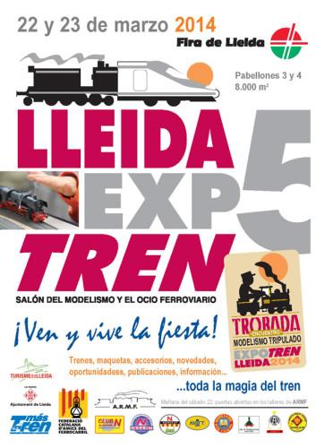 Los días 22 y 23 de marzo salón Lleida Expo Tren 2014