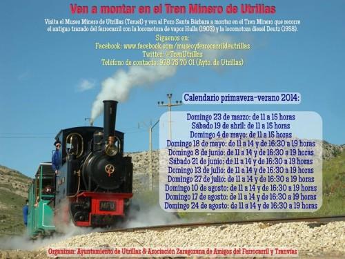 Temporada primavera y verano 2014 del Tren Minero de Utrillas