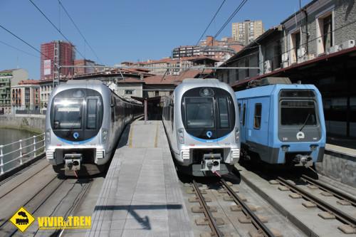Visita a la estación de Bilbao-Atxuri de Euskotren