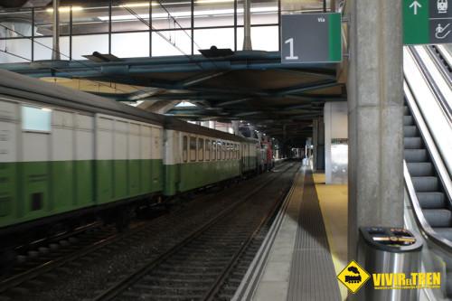 Tren Herbicida en la estación de Oviedo