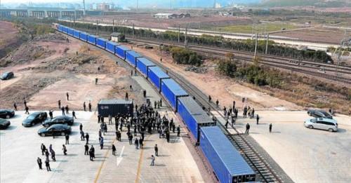 El primer tren de mercancías China – España llegará a la frontera con España por Irún