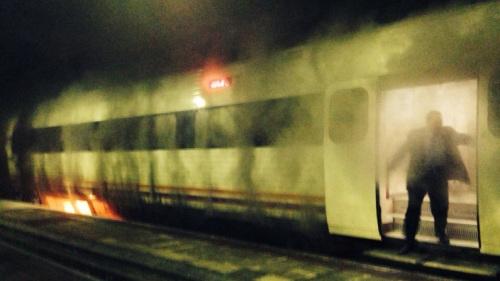 Se incendia un tren de Media Distancia 594 que hacía la ruta Coruña – Monforte de Lemos