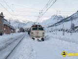 Tren Busdongo nieve