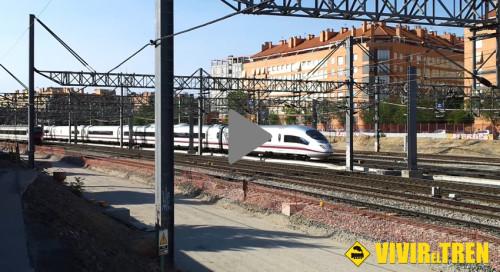 Trenes AVE y AVANT circulando por Madrid