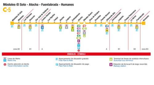 Un tren especial recorrerá la línea C5 de Cercanías Madrid entre Humanes y Móstoles