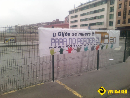 """""""!!Gijón se mueve!! Para no perder el tren"""" Manifestación el viernes a las 19:00h"""