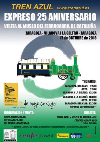Viaje en el Tren Azul a Vilanova i la Geltrú para visitar el Museo del Ferrocarril de Cataluña