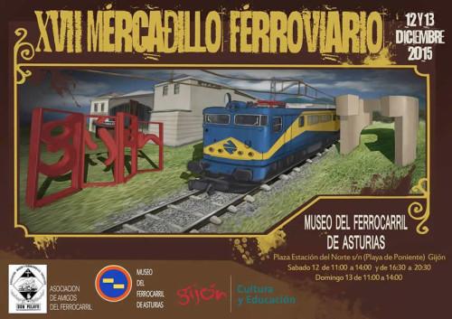 Mercadillo ferroviario en el Museo del Ferrocarril de Asturias de Gijón
