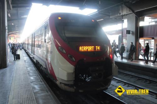 Tren Renfe lanzadera T4