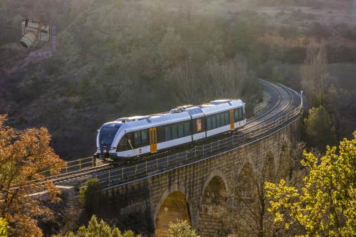 Los nuevos trenes de FGC ya están circulando en pruebas por la línea Lleida – La Pobla de Segur
