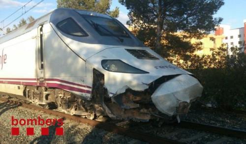 Descarrila un tren Euromed al arrollar una piedra de grandes dimensiones