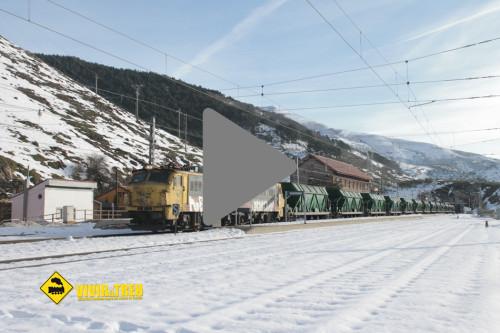 Tren nieve Busdongo Pajares