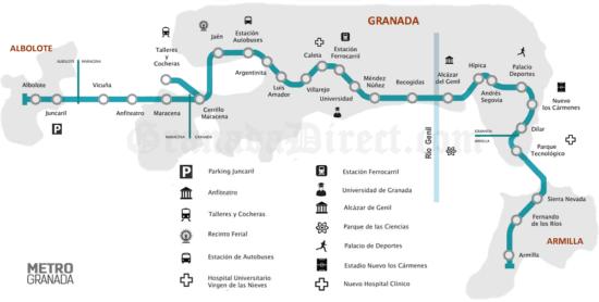 Plano Metro Granada