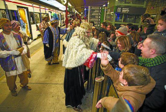 Ciudades en las que los Reyes Magos llegarán en ferrocarril el 5 de enero