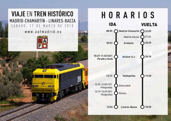 Viaje en el Tren de los 80 entre Madrid Chamartín y Linares-Baeza