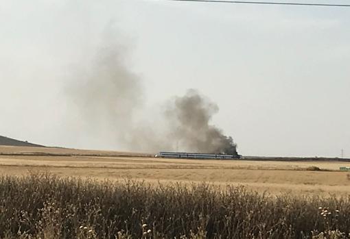 Tren incendio Extremadura
