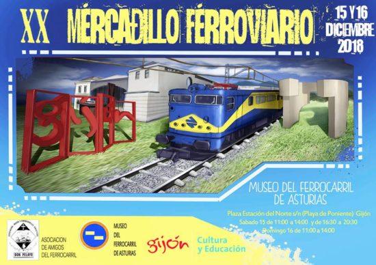 Presentada la vigésima edición del mercadillo ferroviario en el Museo del Ferrocarril de Asturias