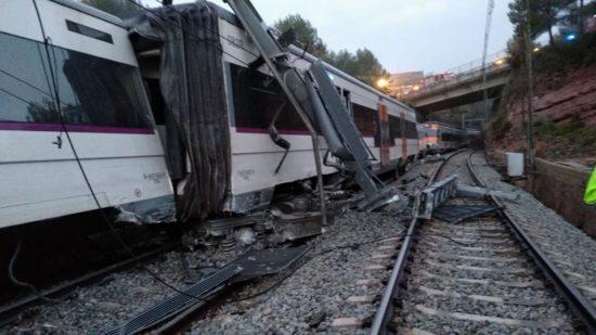 Descarrila un tren de Rodalies de la línea R-4 en Vacarisses