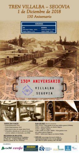 Tren Villalba Segovia aniversario
