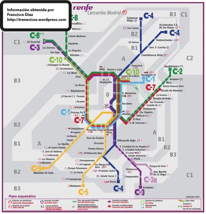 Mapa Cercanias Madrid 2017.Mapa Renfe Cercanias Madrid Zonas Thetremendingtopic