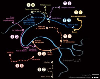 mapa tranvia paris