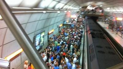aglomeraciones metro bilbao