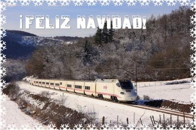 felicitacion navideña tren