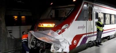 accidente trenes Barcelona Clot