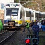 Choque trenes FEVE San Claudio
